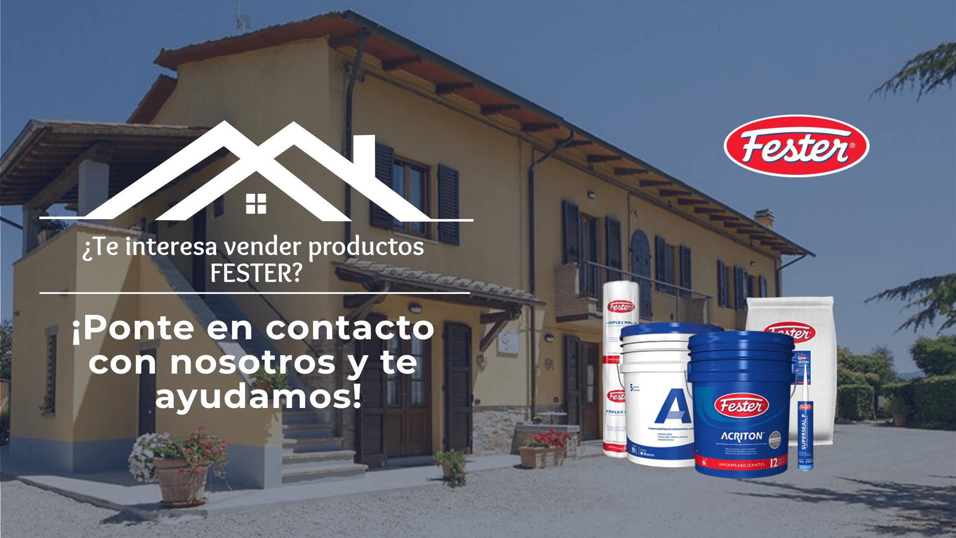Información vender productos Fester México