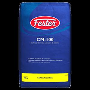 Fester cm 100 es mortero anticorrosivo para tratamiento del acero de refuerzo utilizado en elementos de concreto.